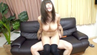 Japanese Chubby BigTits Babe Fucking with Toy
